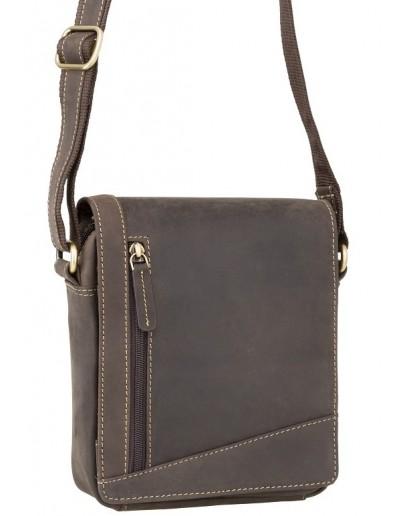 Фотография Тёмно-коричневая маленькая сумка на плечо Visconti S7 (oil brown)