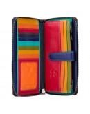 Фотография Кожаный клатч кошелёк женский Visconti SP33 - Iris (black-multi)
