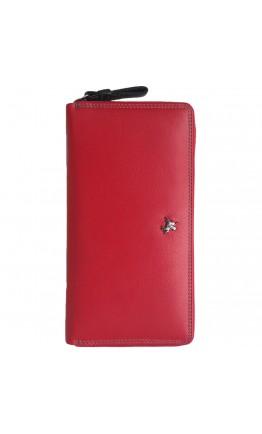 Красный кожаный клатч кошелёк Visconti SP33 - Iris (red-multi)