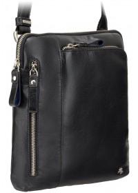 Удобная чёрная сумка мужская на плечо Visconti ML20 Roy (black)