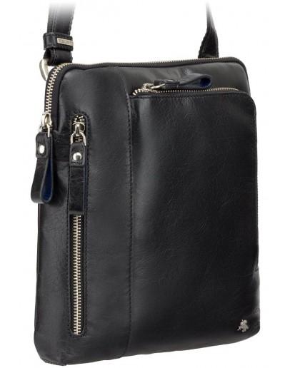 Фотография Удобная чёрная сумка мужская на плечо Visconti ML20 Roy (black)