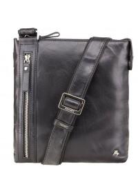 Мужская кожаная фирменная сумка планшетка Visconti ML25 Taylor (black)