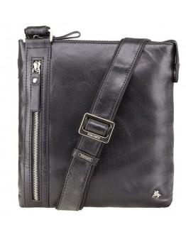 Небольшая чёрная сумка на плечо Visconti ML25 Taylor (black)