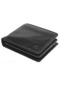 Чёрный мужской кожаный кошелёк Visconti TSC43 Montieri (Black)