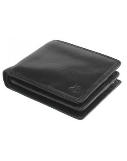Фотография Чёрный мужской кожаный кошелёк Visconti TSC43 Montieri (Black)