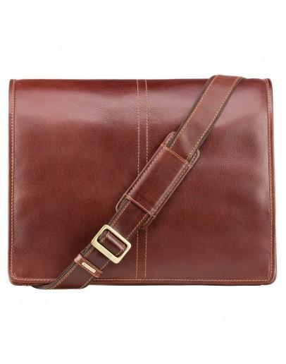 Фотография Коричневая сумка мужская на плечо Visconti VT7 Aldo (Brown)