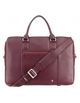 Женская кожаная сумка для документов бордовая Visconti WB70 Harriet 13 (Plum)