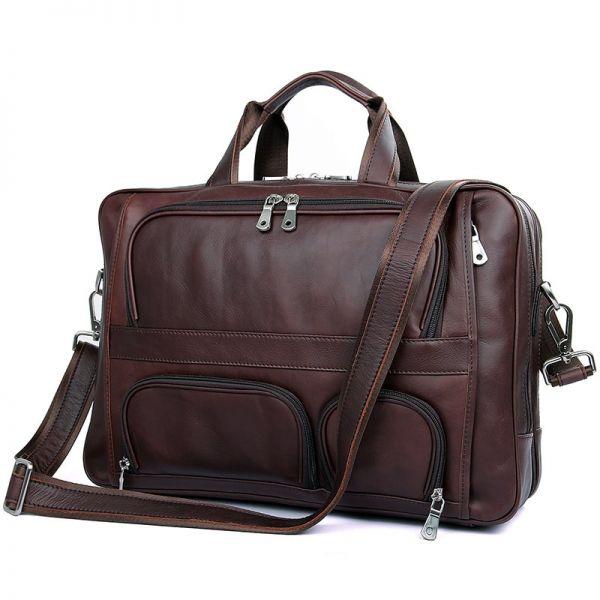 кожаная мужская сумка для командировок