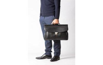 фотография кожаный портфель мужской - кенгуру