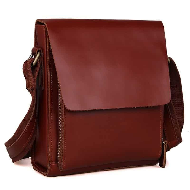 фото сумка планшет из натуральной кожи - кенгуру