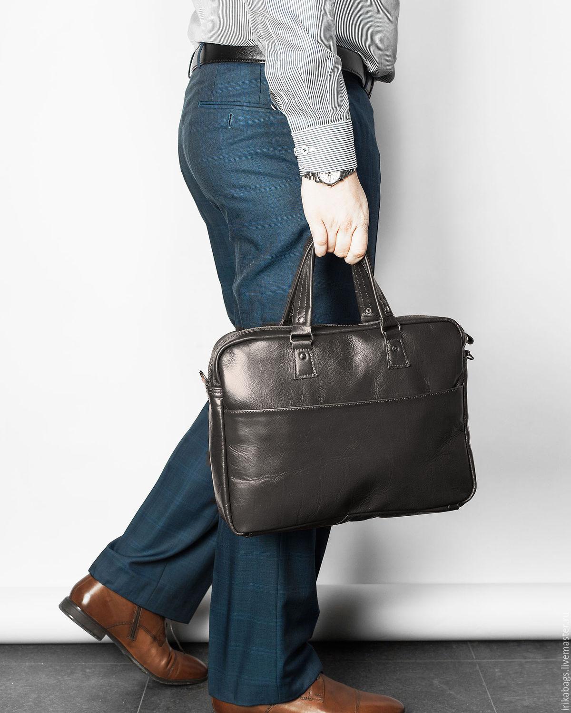 Мужской классический портфель