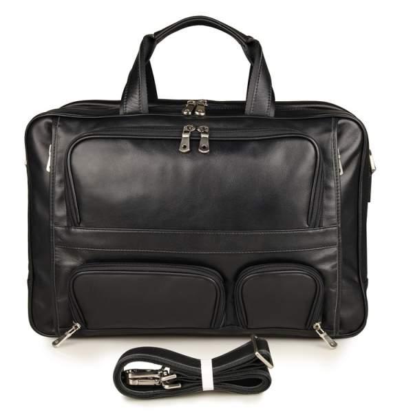 кожаная мужская большая сумка